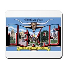Texas Greetings Mousepad