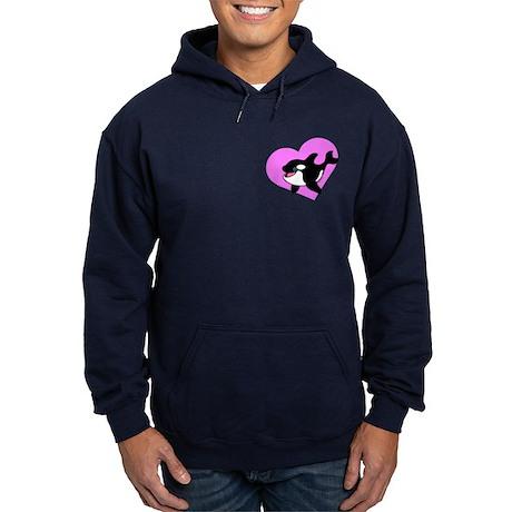 Cute Whale (pink) Hoodie (dark)