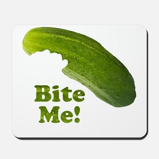 Bite Me! Pickle Mousepad
