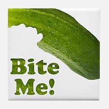 Bite Me! Pickle Tile Coaster
