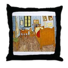 Bedroom at Arles Throw Pillow
