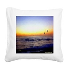 Califsunsettshirt.png Square Canvas Pillow