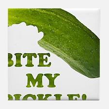 Bite My Pickle! Tile Coaster