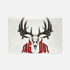 Tag Out whitetail Rectangle Magnet