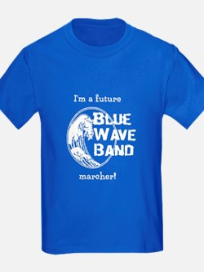 Blue Wave Band Kids Blue T-Shirt