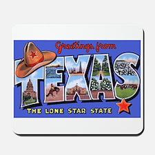 Texas Greetings Mousepad