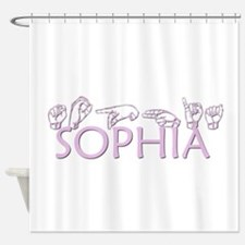 Sophia in ASL Shower Curtain