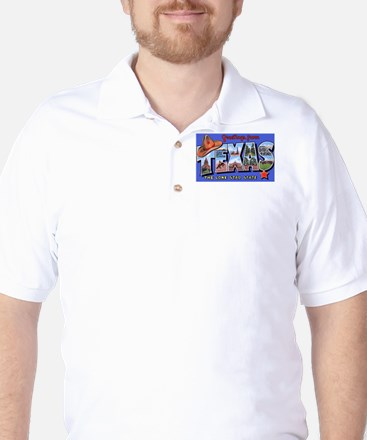 Texas Greetings Golf Shirt