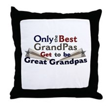 The Best Great Grandpas Throw Pillow