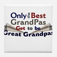 The Best Great Grandpas Tile Coaster