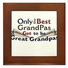 The Best Great Grandpas Framed Tile