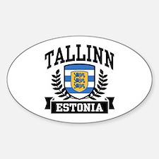 Tallinn Estonia Sticker (Oval)