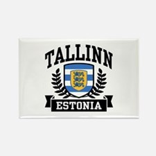 Tallinn Estonia Rectangle Magnet