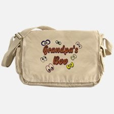 Grandpa's Boo Halloween Eyes Messenger Bag