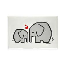 Elephants (4) Rectangle Magnet