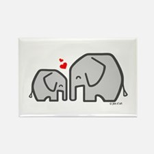 Elephants (4) Rectangle Magnet