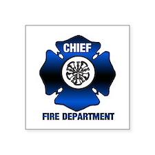 """Fire Chief Square Sticker 3"""" x 3"""""""