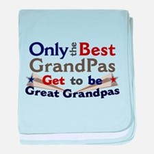 Best Great Grandpa 2 baby blanket