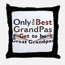 Best Great Grandpa 2 Throw Pillow