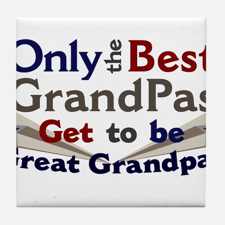 Best Great Grandpa 2 Tile Coaster