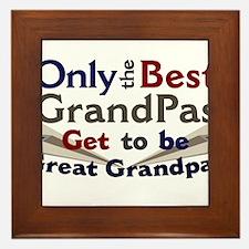 Best Great Grandpa 2 Framed Tile