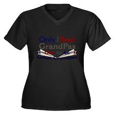 Best Great Grandpa 2 Women's Plus Size V-Neck Dark