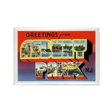 Asbury Park New Jersey Rectangle Magnet