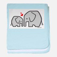 Elephants (4) baby blanket