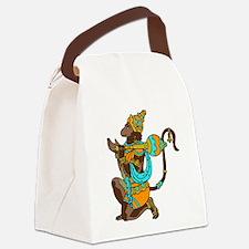 Kneeling Hanuman Canvas Lunch Bag