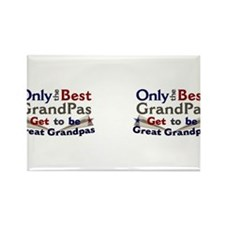 Best Great Grandpa Double Rectangle Magnet