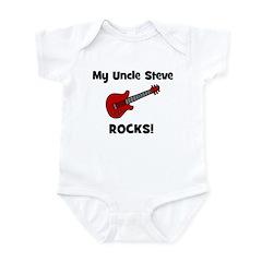My Uncle STEVE Rocks! with Guitar CUSTOM Infant Bo