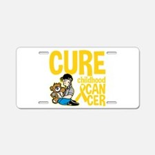 Cure Childhood Cancer Bear Aluminum License Plate