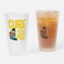 Cure Childhood Cancer Bear Drinking Glass