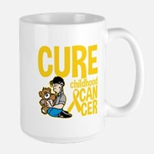 Cure Childhood Cancer Bear Mug
