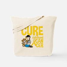 Cure Childhood Cancer Bear Tote Bag
