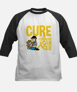 Cure Childhood Cancer Bear Tee