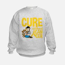 Cure Childhood Cancer Bear Sweatshirt