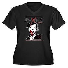 GenXnerd Logo 2012 Women's Plus Size V-Neck Dark T