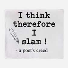 A Poets Creed Throw Blanket