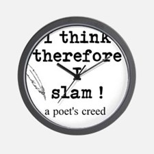 A Poets Creed Wall Clock