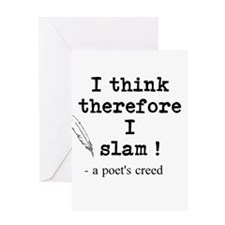 A Poets Creed Greeting Card