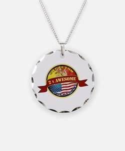 Sicilian American 2 x Awesome Necklace