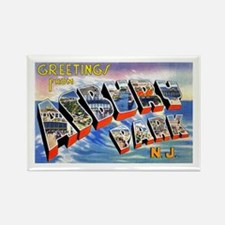 Asbury Park Greetings Rectangle Magnet
