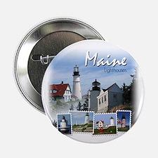 Maine Lighthouses Button