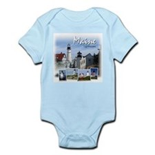 Maine Lighthouses Infant Creeper