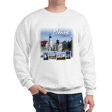 Maine Lighthouses Sweatshirt