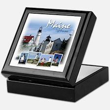Maine Lighthouses Keepsake Box
