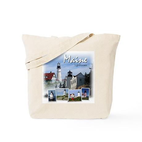 Maine Lighthouses Tote Bag