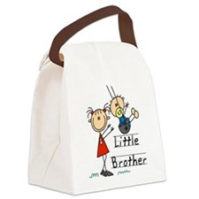 Swing Little Brother Big Sister Canvas Lunch Bag