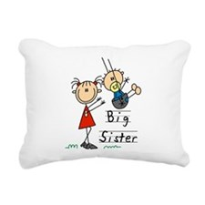Swing Big Sister Little Brother Rectangular Canvas